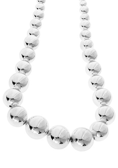 Lauren Ralph Lauren Graduated Silver-Tone Bead Necklace
