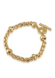Lauren Ralph Lauren Gold-Tone Back to Basics Braided Bracelet