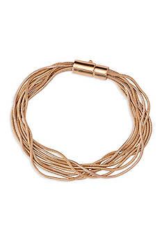 Lauren Ralph Lauren Gold-Tone Fringe Worthy Snake Chain Bracelet