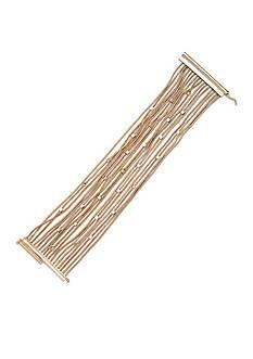 Lauren Ralph Lauren Gold-Tone Fringe Worthy Multi-Strand Bracelet