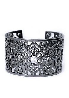Lauren Ralph Lauren Hematite-Tone Estate Openwork Cuff Bracelet