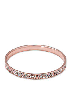 Lauren Ralph Lauren Rose Gold-Tone Palais Pave Bangle Bracelet