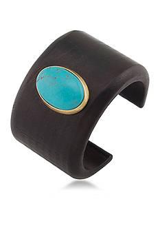 Lauren Ralph Lauren Gold-Tone Lauren Natural Instincts Turquoise Cab Bangle Bracelet