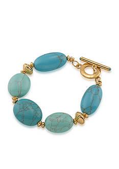 Lauren Ralph Lauren Gold-Tone Paradise Found Stone Bracelet