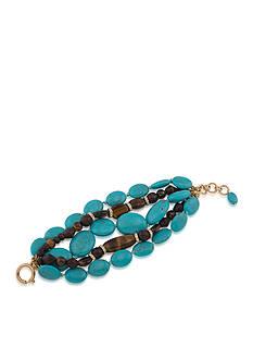 Lauren Ralph Lauren Gold-Tone Lauren Natural Instincts Beaded Bracelet
