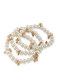 Lauren Ralph Lauren Feminine Classic Chic Three Row Bracelet