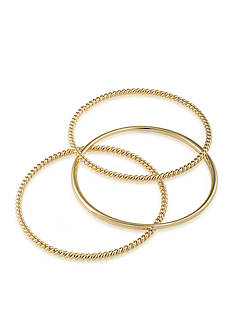 Lauren Ralph Lauren Feminine Gold-Tone Three Piece Metal Bracelet