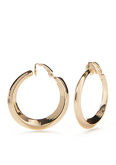 Lauren Ralph Lauren Luxe Links Gold-Tone Hoop Clip Earrings