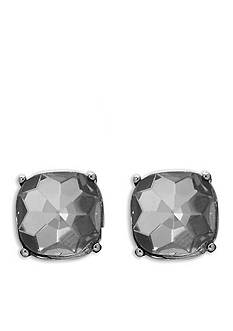 Lauren Ralph Lauren Hematite-Tone Hide and Chic Red Earrings