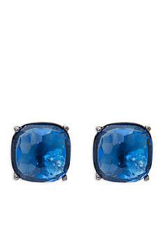 Lauren Ralph Lauren Hematite-Tone Hide and Chic Blue Earrings