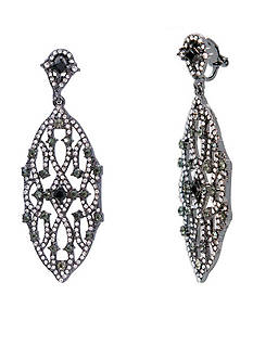 Lauren Ralph Lauren Hematite-Tone Estate Chandelier Earrings