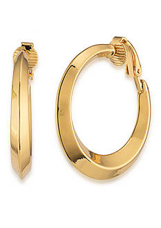 Lauren Ralph Lauren Mix Master Goldtone Hoop Clip On Earrings