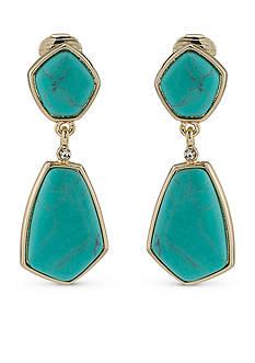Lauren Ralph Lauren Feminine Chic Double Drop Stone Earrings