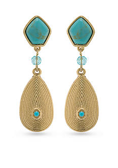 Lauren Ralph Lauren Feminine Gold-Tone Glam Linear Drop Earrings