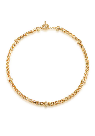 Lauren Ralph Lauren Gold-Tone Back to Basics Braided Collar Necklace