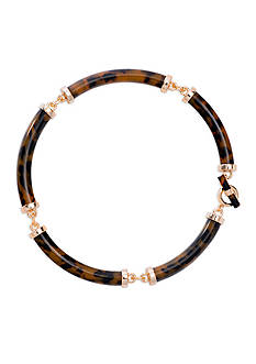 Lauren Ralph Lauren Gold-Tone Riding High Tortoise Collar Necklace