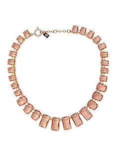 Lauren Ralph Lauren Gold-Tone Mad About Hue Topaz Stone Graduated Collar Necklace