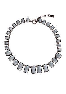 Lauren Ralph Lauren Hematite-Tone Mad About Hue Grey Stone Collar Necklace