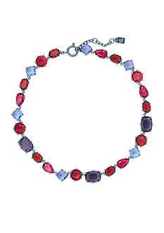 Lauren Ralph Lauren Hematite-Tone Mad About Hue Berry Stone Collar Necklace