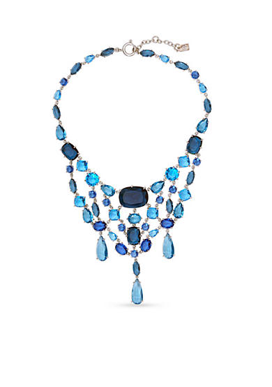 Lauren Ralph Lauren Silver-Tone Mad About Hue Blue Statement Bib Necklace