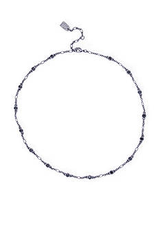 Lauren Ralph Lauren Hide and Chic Hematite-Tone Black Illusion Collar Necklace