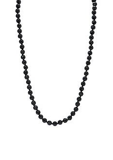 Lauren Ralph Lauren Hematite-Tone Hide and Chic Rope Necklace