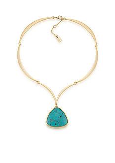 Lauren Ralph Lauren Gold-Tone Treasure Trove Turquoise Pendant Necklace