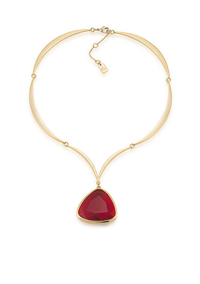 Lauren Ralph Lauren Treasure Trove Red Pendant Necklace