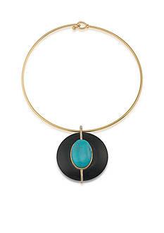 Lauren Ralph Lauren Gold-Tone Lauren Natural Instincts Wire Pendant Necklace