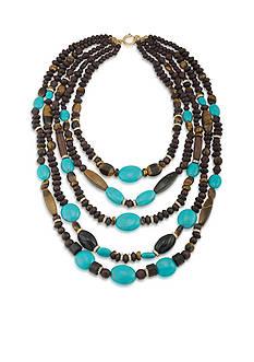 Lauren Ralph Lauren Gold-Tone Lauren Natural Instincts Statement Beaded Necklace