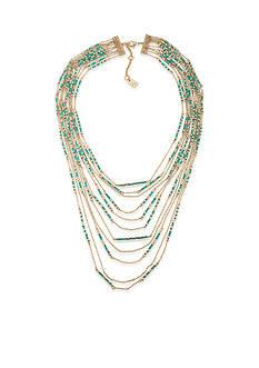 Lauren Ralph Lauren Gold-Tone Dream Weaver Multiple Row Statement Necklace