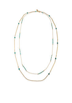 Lauren Ralph Lauren Dream Weaver Two Row Rope Necklace