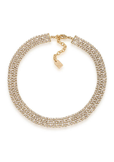 Lauren Ralph Lauren Gold-Tone Clear Collar Necklace