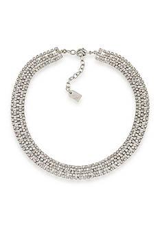 Lauren Ralph Lauren Lauren Fall 16 Clear and Silvertone Choker Necklace