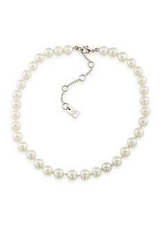 Lauren Ralph Lauren Silver-Tone White Pearl Choker Necklace