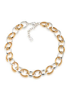 Lauren Ralph Lauren Mix Master Goldtone and Silvertone Small Linked Necklace