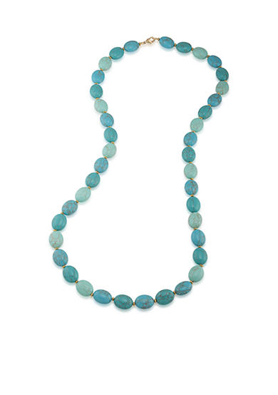 Lauren Ralph Lauren Gold-Tone Paradise Found Turquoise Beaded Necklace