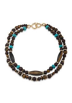 Lauren Ralph Lauren Gold-Tone Lauren Natural Instincts Two Row Beaded Necklace