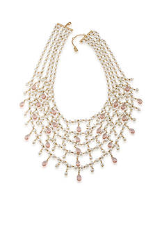 Lauren Ralph Lauren Two Dozen Roses Statement Frontal Necklace