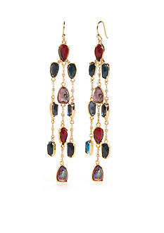 Lauren Ralph Lauren Faceted Stones Linear Chandelier Earrings