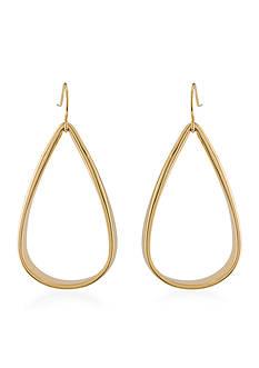 Lauren Ralph Lauren Gold-Tone Smooth Operator Teardrop Earrings