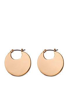 Lauren Ralph Lauren Gold-Tone Fringe Worthy Hoop Earrings