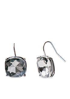 Lauren Ralph Lauren Hematite-Tone Hide and Chic Gray Stone Earrings