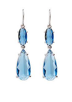 Lauren Ralph Lauren Mad About Hue Blue Linear Double Drop Pierced Earrings
