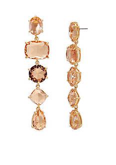Lauren Ralph Lauren Gold-Tone Mad About Hue Topaz Linear Earrings