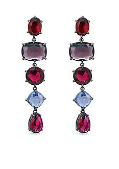 Lauren Ralph Lauren Hematite-Tone Mad About Hue Berry Linear Earrings
