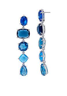 Lauren Ralph Lauren Mad About Hue Blue Linear Drop Pierced Earrings