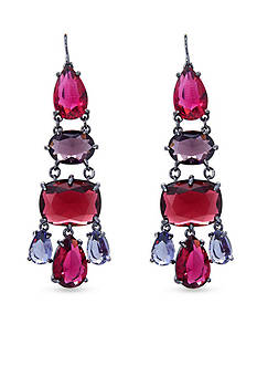 Lauren Ralph Lauren Hematite-Tone Mad About Hue Berry Chandelier Earrings