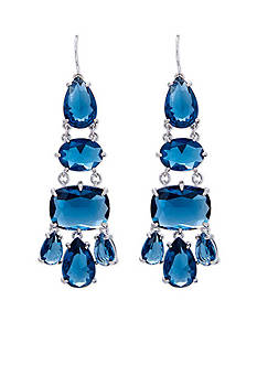 Lauren Ralph Lauren Mad About Hue Blue Chandelier Pierced Earrings