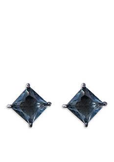 Lauren Ralph Lauren Hematite-Tone Estate Grey Stone Stud Earrings